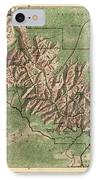 Antique Map Of Grand Canyon National Park By The National Park Service - 1926 IPhone Case