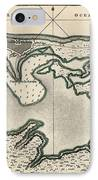 Antique Map Of San Juan Puerto Rico By Thomas Jefferys - 1768 IPhone Case by Blue Monocle