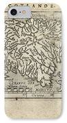 Antique Map Of Scotland By Abraham Ortelius - 1603 IPhone Case by Blue Monocle