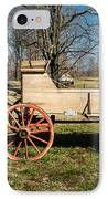 Antique Wagon And Mountain Cabin 1 IPhone Case by Douglas Barnett