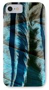 Aqua And Brown Leaf Montage IPhone Case by Bonnie Bruno