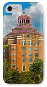 Asheville City Hall IPhone Case by John Haldane