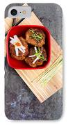 Asian Meatballs 1 IPhone Case by Jane Rix