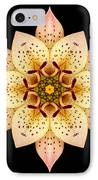Asiatic Lily Flower Mandala IPhone Case