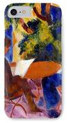 At The Garden Table IPhone Case by August Macke