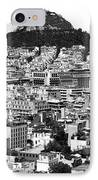Athens City View In Black And White IPhone Case