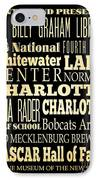 Attractions And Famous Places Of Charlotte North Carolina IPhone Case by Joy House Studio