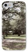 Austin Texas Southern Garden - Luther Fine Art IPhone Case