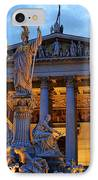 Austrian Parliament Building IPhone Case by Mariola Bitner