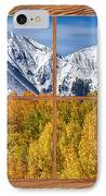 Autumn Aspen Tree Forest Barn Wood Picture Window Frame View IPhone Case by James BO  Insogna