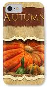 Autumn Button IPhone Case by Mike Savad