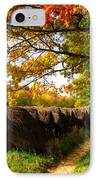 Autumn Hay Bales Blue Ridge Mountains II IPhone Case