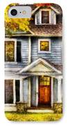 Autumn - House - Cottage  IPhone Case by Mike Savad