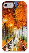 Autumn Park Night Lights Palette Knife IPhone Case by Georgeta  Blanaru