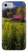 Autumn Wildflowers IPhone Case by Debra and Dave Vanderlaan
