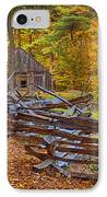 Autumn Wooden Fence IPhone Case