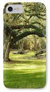 Avery Island Oaks IPhone Case by Scott Pellegrin