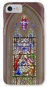 Baby Jesus Stained Glass Window IPhone Case by Susan Candelario