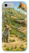 Babysitter  -  Coyotes IPhone Case by Paul Krapf