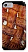 Bacon Weave Baseball Square IPhone Case