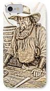 Bad Times Pilgrim Gotta Be Ready IPhone Case by Randall Branham