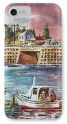 Bailey Island Cribstone Bridge IPhone Case by Joy Nichols