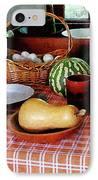 Baking A Squash And Pumpkin Pie IPhone Case by Susan Savad