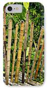 Bamboo Fencing IPhone Case by Lilliana Mendez