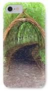 Bamboo Tunnel IPhone Case by Olivier Le Queinec