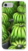 Banana Bunch Gathering IPhone Case by Douglas Barnett