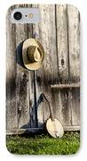 Barn Door And Banjo Mandolin IPhone Case by Bill Cannon