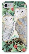 Barn Owls IPhone Case by Suzanne Bailey