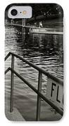Barton Springs Pool In Austin IPhone Case by Kristina Deane