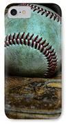 Baseball Broken In IPhone Case by Paul Ward