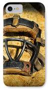 Baseball Catchers Mask Vintage  IPhone Case by Paul Ward