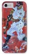 Baseball Painting IPhone Case by Robert Joyner
