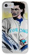 Baseball Player IPhone Case by First Star Art