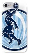 Basketball Player Dunk Ball Retro IPhone Case
