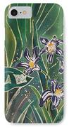Batik Detail - Pushkinia IPhone Case by Anna Lisa Yoder