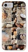 Beach Shells And Rocks Collage IPhone Case by Carol Groenen