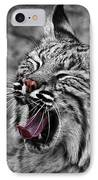 Bearizona Bobcat IPhone Case by Priscilla Burgers