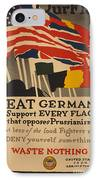 Beat Germany IPhone Case by Adolph Treidler