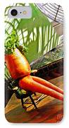 Beer Belly Carrot On A Hot Day IPhone Case by Sarah Loft