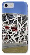 Beijing National Stadium - Site Of 2008 Olympic Games IPhone Case by Brendan Reals