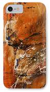 Believe In Dreams - Abstract Art IPhone Case by Ismeta Gruenwald