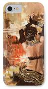 Belly Dancer Back IPhone Case by Corporate Art Task Force