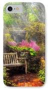 Bench - Tranquility II IPhone Case by Mike Savad