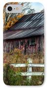 Berkshire Autumn - Old Barn Series   IPhone Case by Thomas Schoeller