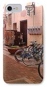 Bikes In Alley IPhone Case by Emily Clingman