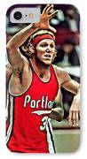 Bill Walton IPhone Case by Florian Rodarte